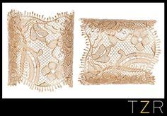 Givenchy by Riccardo Tisci Gold Lace Cuff give a feminine and romantic style  Disfruta de unos brazaletes delicados y de aspecto romántico.