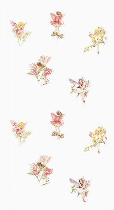 Tapet 71208: Flower Fairies Cream från Jane Churchill - Tapetorama