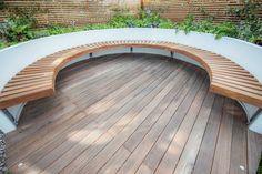 Large back garden design in Turney Road, Dulwich, 2 Garden Seating, Outdoor Seating, Outdoor Decor, Garden Benches, Sunken Garden, Rooftop Garden, Back Garden Design, Patio Design, Backyard Designs