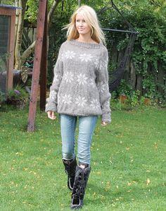 nordisk sweater med stjerner strikkekit