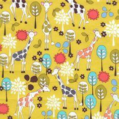 Designer: Michael Miller House Designer Collection: Citron Gray Print Name: Giraffe Garden in Citron