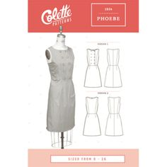 Colette Phoebe Dress Sewing Pattern - Guthrie & Ghani