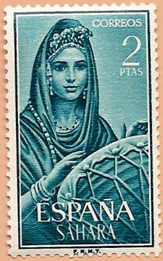 Sello Sáhara Español - Portal Fuenterrebollo Vintage Stamps, European History, Tampons, Mail Art, Stamp Collecting, World Cultures, Old Things, Statue, Portal