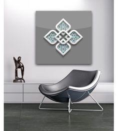 Tableau Plexi Mosaique gris