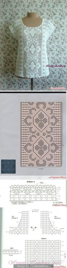 Beautiful filet crochet top wi | <br/> Crochet