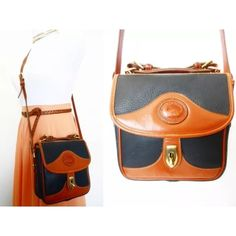Dooney & Bourke AWL Vinatge Purse Authentic Dooney & Bourke AWL Vintage Square Carrier Purse, Purse in woven blue/brown fabric & leather. Has a hobo body design, one long adjustable shoulder strap, has a turn lock closure. Purse has three inner pockets.   The Carrier bags are very versatile. They come with a removable, adjustable shoulder strap so you can wear the bags on your shoulder or cross body. When you remove the strap, there is a sturdy, adjustable carrying handle on top of the bag…
