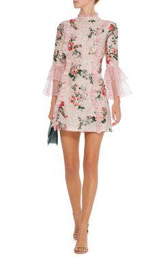 Casauro Floral Brocade Mini Dress by VIVETTA Now Available on Moda Operandi