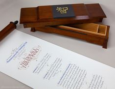 Honorary scroll and box. John Stevens and Martin O'Brien collaboration.