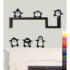 $19.95 Penguin Wall Decals  @Matty Chuah Science Penguin