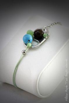 Bracelet d'amitié languette canette magnésite bronzite