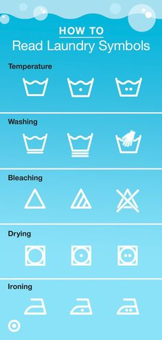 Are you confused when looking at those laundry tags on your clothes? Use this handy guide to understand what laundry symbols mean. Print it and hang it in your laundry room! Diy Cleaning Products, Cleaning Solutions, Cleaning Hacks, Laundry Symbols, Laundry Hacks, Laundry Rooms, Clean Freak, Simple Life Hacks, Home Hacks