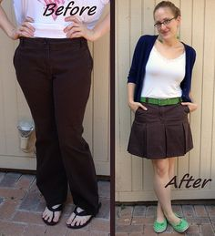 Scouts Honor Skirt Refashion by CarissaKnits