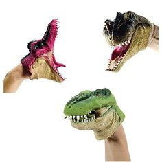 Dinosaur Puppet, Giant Dinosaur, Puppets For Kids, Hand Puppets, Mexican Train Dominoes, Velociraptor Dinosaur, Cool Dinosaurs, Puppet Toys, Puppet Making