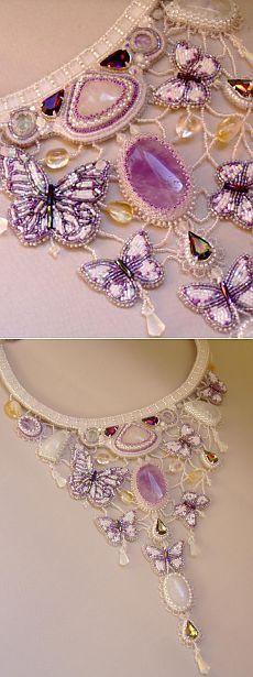 Waltz lunar butterflies |  biser.info - all about beads and beaded works