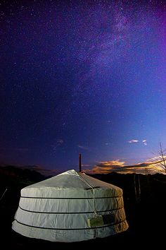 Milky Way & Yurt - Mongolia my number one place I want to travel to