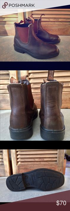 Women's US size 8 Blundstone Boots. Original Chelsea style.  Great pull on style!  Rich brown leather. Weather sealed uppers that shed water.  Versatile and durable.  Light wear. Blundstone Shoes Ankle Boots & Booties