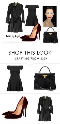 """minimalista"" by wentejeida on Polyvore featuring moda, Alice + Olivia, Hermès, Christian Louboutin y Burberry"