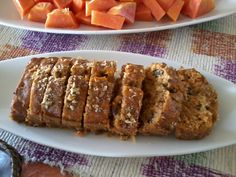 Fave carrot cake with walnuts, moist but not oily.