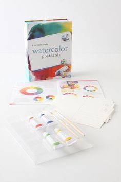 Watercolor Postcards: A Portable Studio - anthropologie.com