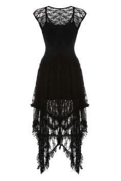 Black Lace Sleeveless Midi Dress