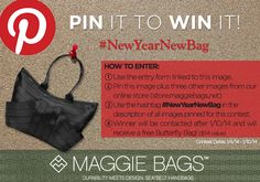 Maggie Bags Pin It to Win It Contest! #NewYearNewBag #MaggieBags #giveaway