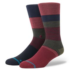 Blue//Red Stance Wilde Fusion Athletic Running Socks Mens
