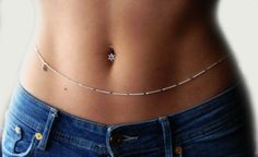 Tactics that will help you Greatly enhance Your expertise of body piercing Silver Body Jewellery, Body Jewelry Bikini, Body Chain Jewelry, Belly Button Piercing Jewelry, Bellybutton Piercings, Body Piercing, Beach Jewelry, Cute Jewelry, Hippie Jewelry