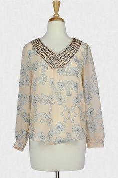 Pearl Essence Embellished Top :: $35.99