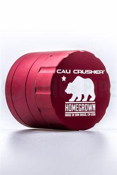Chromium Crusher Grinder Herb 4 Pieces Handle Silver 55 mm ga