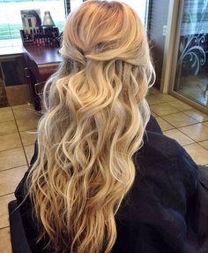 Beachy wedding hair. #hairandmakeupbysteph