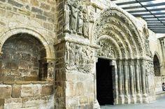 Portico de la Iglesia de San Miguel de   Estella,Navarra
