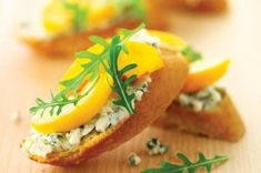 Need to make something quick? Then these moreish, snack-sized Roquefort and peach bruschetta are just the answer. All you need are some juicy peaches, a stick of French bread and a pack of creamy Roquefort cheese and you're ready to start stacking. No cooking required, these nibbles can be made in minutes.Get the recipe: Roquefort and peach bruschetta