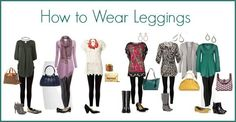 How to Wear Leggings #fashion