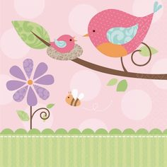 Find baby bird baby shower decorations at Birthday Direct Otoño Baby Shower, Baby Shower Drinks, Baby Shower Napkins, Fiesta Baby Shower, Girl Shower, Baby Shower Parties, Baby Shower Themes, Baby Showers, 1st Birthday Party Supplies