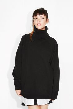 Monki Image 2 of Inger knitted top in Black