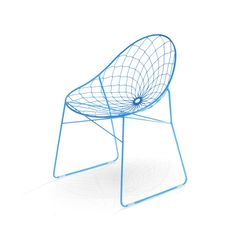 Source wire chair |  Designer: Haldane Martin |  The inspiration behind the source wire chair'sseat pattern is phyllotaxis – the beautiful, spiral growth pattern found in leaf and flower petal geometry. Chair Design, Furniture Design, Wire Chair, Metal Chairs, Geometry, Spiral, Inspiration, Flower, Pattern