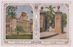 Antique Hawaii Postcard, Iolani Palace, Honolulu
