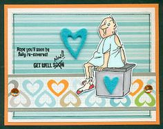 Art Impressions Rubber Stamps: Ai @ Michael's: Get Well SC0681, clear stamps. Handmade get well card..