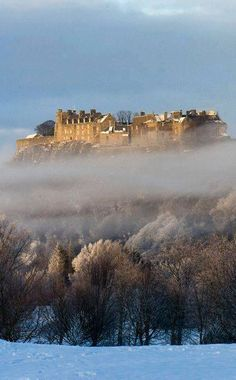 Stirling Castle amidst the mists, Scotland