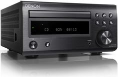 The Denon DM41DAB Mini System builds on its predecessor, featuring improved sound, a more refined style, and better facilities. The discrete analogue amplifier circuit reduces signal paths for greater clarity and impact, while the addition of Bluetooth will allow instant wireless connection to smartphones, tablet devices or computers/laptops with Bluetooth capability. Black.