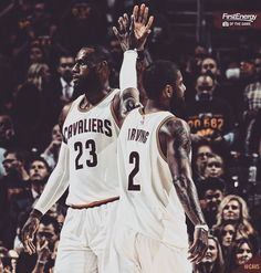 Lj and Kyrie Cavs.. The Squad