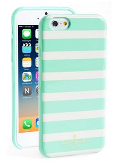 Mint striped iPhone case. So need to make this for the Galaxy too!! #katespade