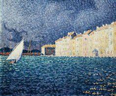 Paul Signac - Saint-Tropez, the Storm, 1895, Oil on canvas, 47 x 55 cm