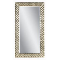 The House of Hampton Mirror features a bold patterned antique silver leaf and gold frame and beveled mirror glass. The addition of a ''leaner'' mirror increases the apparent size and adds depth and dimensionality to a variety of environments. This mirror is intended to be a floor standing mirror that ''leans'' against a wall. The House of Hampton Kingsley leaner mirror features a boldly patterned antique silver leaf and gold frame and beveled mirror glass. The ...
