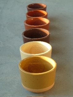 Bowls Atelier NL digged, shaped and baked and from different Dutch clay