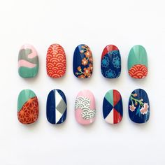 The nail art menu for the press day inspired by the gorgeous New Year's Nails, Gel Nails, Japanese Nail Art, Manicure Y Pedicure, Super Nails, Cute Nail Designs, Nail Stamping, Nail Trends, Trendy Nails