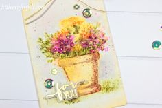 Hello! Today I have a couple of tags to share with you using Art Impressions Watercolor Series Stamps. I've been trying to learn waterco...