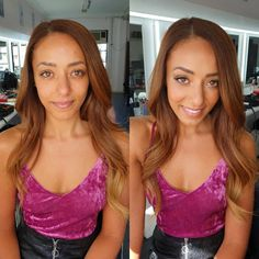 Gorgeous before and gorgeous after 😍 Hair and a soft bronzey glam for ~ Do you like seeing before and after's? Wedding Makeup, Stylists, Crop Tops, Artist, Hair, Instagram, Women, Fashion, Wedding Make Up