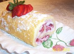 Strawberry Cake Roll Recipe | Just A Pinch Recipes