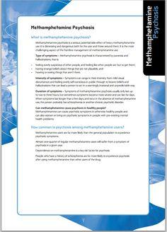 Methamphetamine psychosis factsheet - NDARC